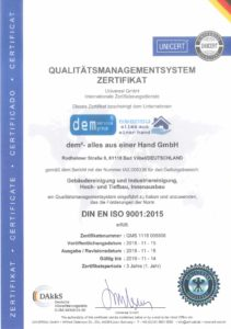 DIN-EN-ISO-9001-Zertifikat