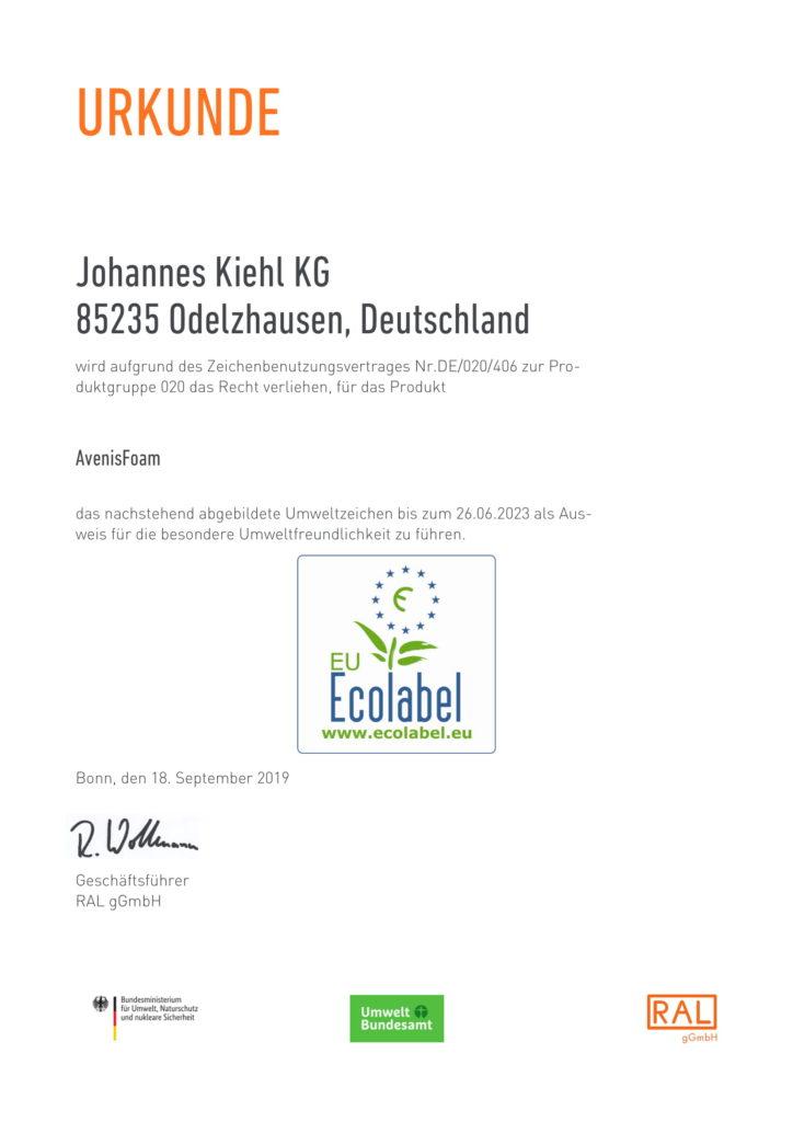Avenis Foam Zertifikat-1