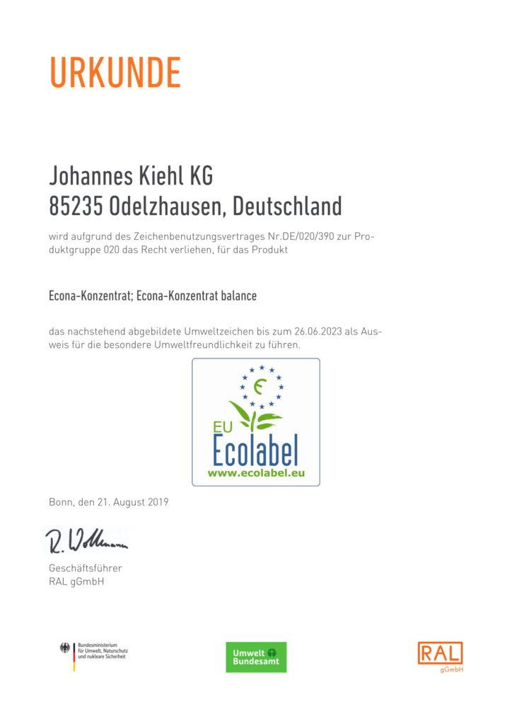 Econa Konzentrat Zertifikat-1