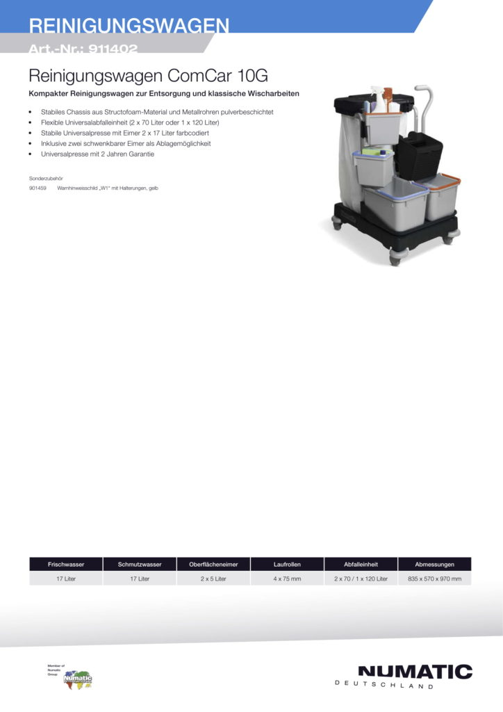 Reinigungswagen 2 Numatic-1
